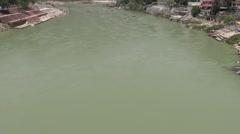 Boating in Ganga River in Rishikesh 2 Stock Footage