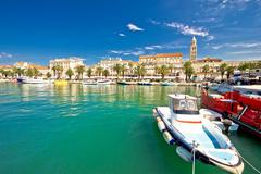 Historic Split architecture waterfront view - stock photo