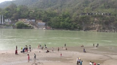 Holy Bath in Ganga River in Rishikesh 4 Stock Footage