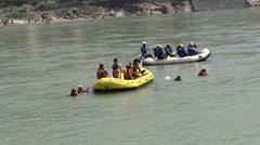 Rafting in Ganga River in Rishikesh 4 - stock footage