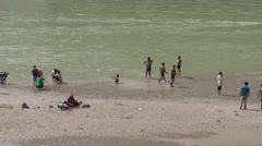 Holy Bath in Ganga River in Rishikesh 5 Stock Footage