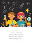 Young scientist - education, research and school Stock Illustration