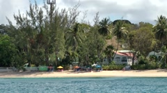 Barbados St. James 047 hotel and excursion boat in Sandy Lane Bay Stock Footage