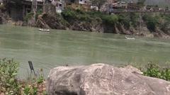 Rafting in Ganga River in Rishikesh 1 Stock Footage