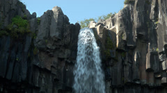 Svartifoss Waterfall; Skaftafell, ICELAND Stock Footage