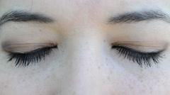 Female eyes Stock Footage