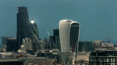 London City skyline 2015 UHD Stock Footage