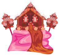 Stock Illustration of Gingerbread house