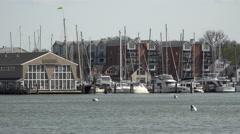 Annapolis Maryland marina harbor 4K 048 Stock Footage