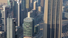 Stock Video Footage of View From  Burj Khalifa Out On Dubai, United Arab Emirates