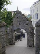 Ancient walls in Tenby, West Wales Stock Photos