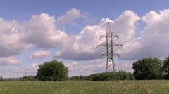 High voltage post or High voltage tower Stock Footage