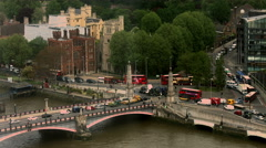 Traffic by Lambeth Palace UHD Stock Footage