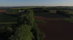 4K DRONE COUNTRY ROAD Stock Footage