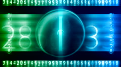 Digital number art 19 Stock Footage