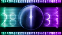 digital number art 26 - stock footage