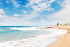 Malia beach, Crete, Greece - stock photo