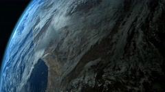 Earth (very realistic) slowly rotating around its axis - 4K - stock footage