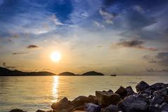 Sunrise at Saphan Hin, Phuket, Thailand - stock photo