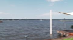 Pan St Lucie River, Stuart FL Stock Footage