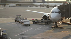 Airport Baggage Handler Stock Footage