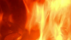 Fire burning in a oven/ fireplace, loopable with sound - stock footage