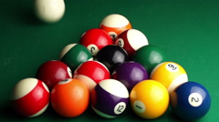 billiard balls - stock footage