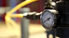 Air pressure gauge Stock Footage