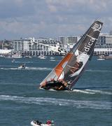 Auckland, New Zealand. Waitemata Harbour, 14th March, 2015. The all female Te Stock Photos