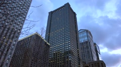 Chicago Skyscrapers. Leo Burnett Building, 77 West Wacker Dr, Waterview Tower Stock Footage