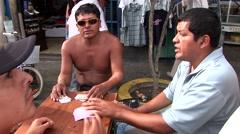Gambling on Street, South America, Peru Stock Footage