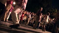 Latinos dancing on Street, South America Stock Footage