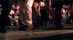 Dancing People on Street, South America - stock footage