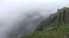 Machu Picchu. Old Inca city in the Andes of Peru Stock Footage