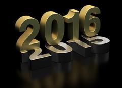 New Year 2016 and old 2015 - stock illustration