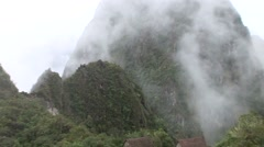 Inca city Machu Picchu, Peru, South America Stock Footage