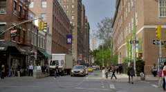 NYU dorm Empire State Building Greenwich Village slow motion 4K Manhattan NYC Stock Footage