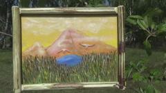 Ukraine, folk art, painting Stock Footage