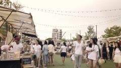 Timelapse lifestyle trendy market in town , Bangkok,Thailand Stock Footage