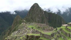 Machu Picchu. Old Inca city in the Andes of Peru - stock footage