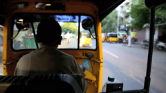 Close focus point of view ride in tuk tuk motor taxi Stock Footage