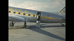 Vintage 16mm film, DC3 Wien Alaska Air, 1954 Stock Footage