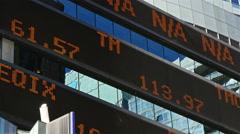 Stock market ticker Arkistovideo