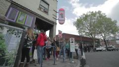 VOODOO DONUTS PORTLAND OREGON Stock Footage