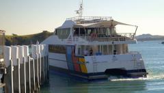 Waiheke Island-Auckland Ferry Service Stock Footage