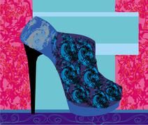Stock Illustration of High heels background with place for you text