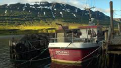 SEYDISFJORDUR, ICELAND, boat Stock Footage