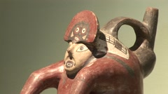 Nasca Culture Exhibition, Peru, South America Stock Footage
