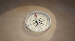 A Compass Needle Points North Stock Footage
