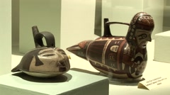 Nasca Culture Exhibition, Peru, South America - stock footage